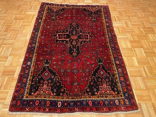 #210 Unique  Persian Tribal Area Rug, Wool Oriental Carpet