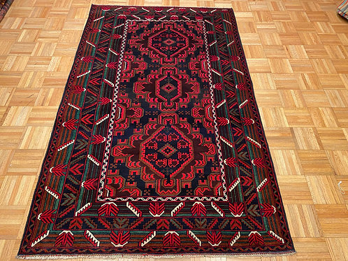 #M1   New Fine Hand Knotted Afghan Tribal Rug