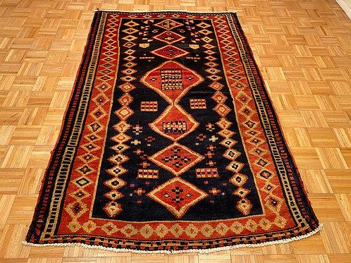 #1484  Semi Antique Persian Tribal Rug, Wool Area Rug
