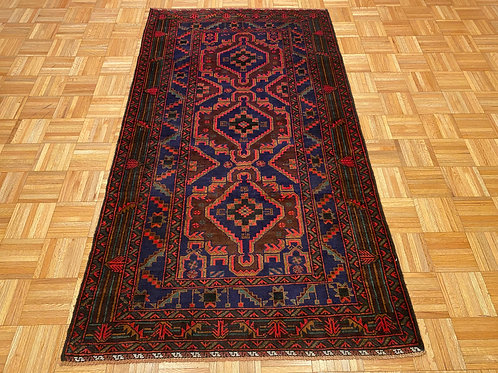 M559 New Hand Knotted Afghan Tribal Rug