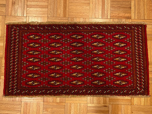 """#103   1'9"""" x  3'4""""   Hand Knotted Red Persian Turkomen Rug"""
