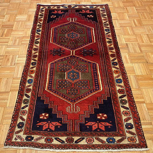 C239  New Hand Knotted Double Medallion Persian Tribal Rug