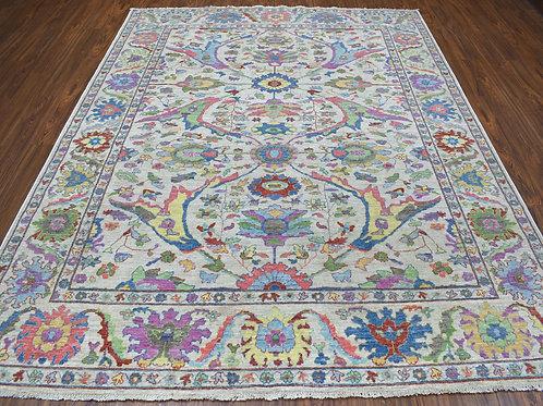 #573  Happy Colors Oushak Oriental Rug
