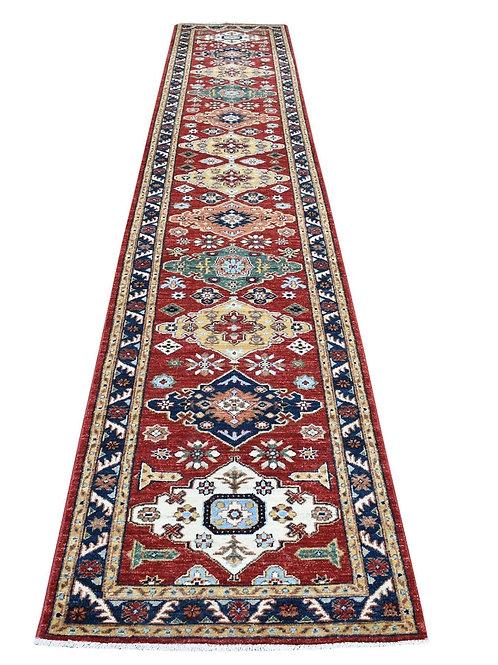 """#520  2'8"""" x 15'6"""" Geometric Afghan Ersary Runner Rug"""