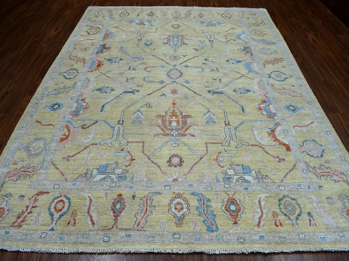 #474  Hand Knotted Oushak Rug