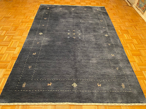 #227  New Denim Blue Modern Gabbeh Rug, Oriental Carpet