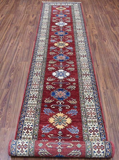 """#521  2'7""""x16'  Super Kazak Oriental Runner Rug"""