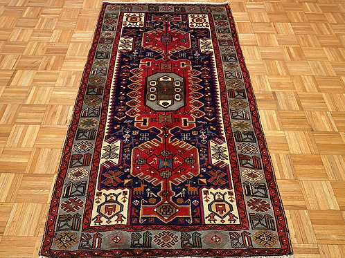 C232  New Hand Knotted Navy Persian Tribal Area Rug