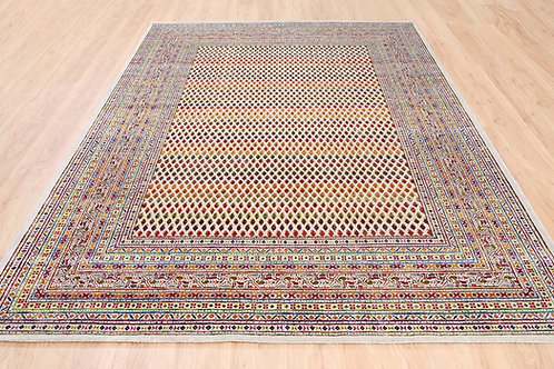 #571  Happy Colors Sarouk Mir With Boteh Design Area Rug