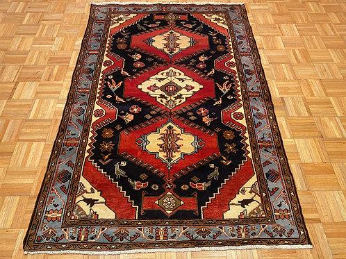 #C4839   Geometric Persian Hamedan Rug