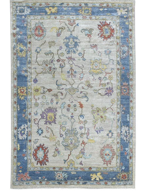 #545  Hand Knotted Oushak Oriental Rug
