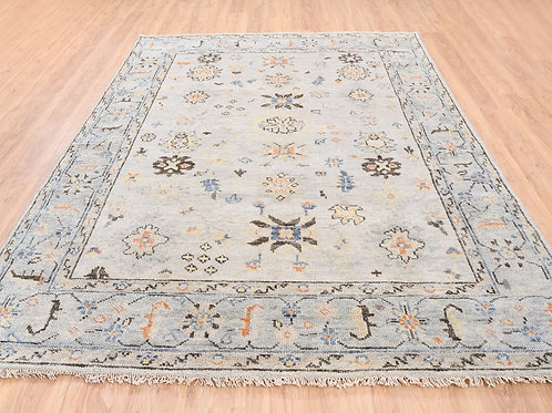 #575  Hand Knotted Oushak  Oriental Rug