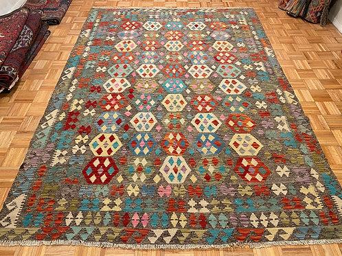 #265  Flat Weave Reversible Afghan Kilim Rug