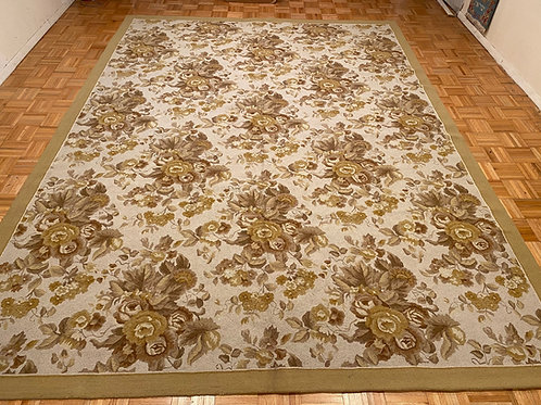 #K95  New French Design Wool Hand Hooked Rug