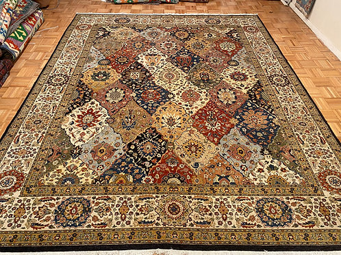 #K281  Hand Knotted With Silk Highlights Persian Bakhtiari Design Area Rug