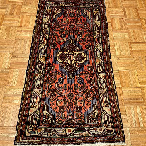 #237  New Hand Knotted Persian Malayer Rug, 3 x 5 Wool Oriental Rug