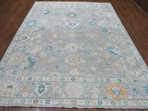 #549  All Over Gray Oushak Oriental Rug