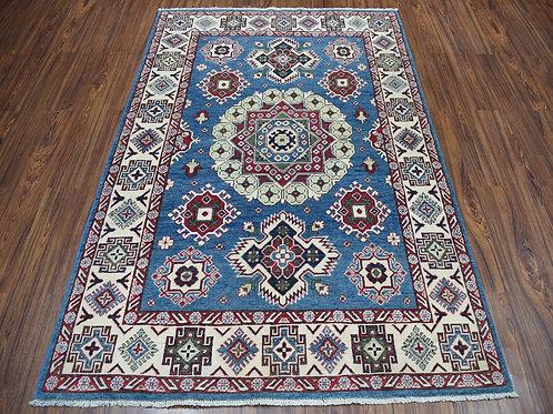 #347  All Over Geometric Blue Kazak Rug