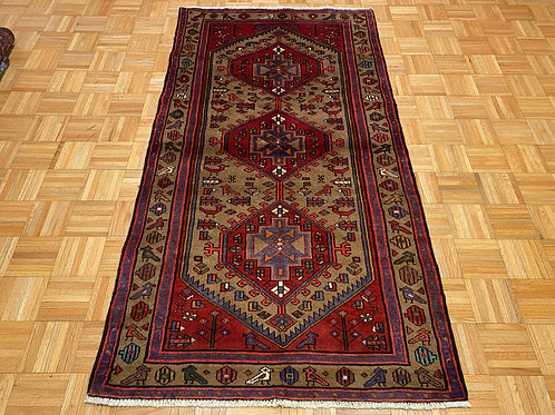 C236  New Hand Knotted Camel Hair Persian Tribal Rug