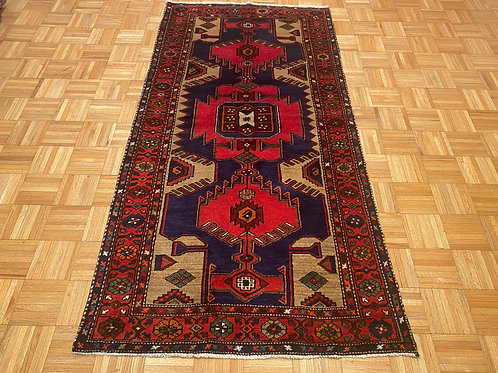 C233  New Hand Knotted Navy  Geometric Persian Tribal Rug