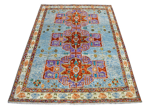 #541  Hand Knotted Colorful Afghan Baluch Area Rug