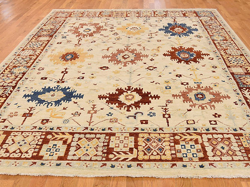 #564  Hand Knotted All Over Mahal Design Rug