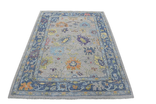 #557 Hand Knotted Floral Oushak Oriental Rug