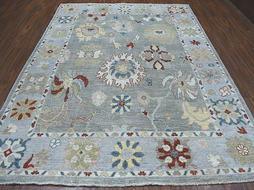 #574  Hand Knotted 100% Wool Oushak Oriental Rug