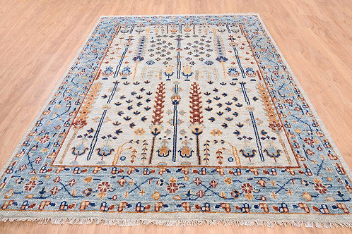#561   Hand Knotted Tree Design Oriental Rug