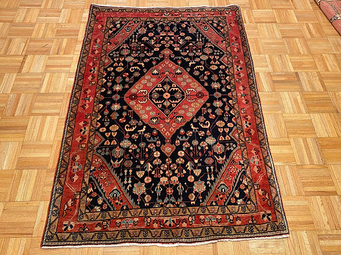 """#125   3'7"""" x 5'3""""  Fine Hand Knotted Persian Area Rug"""