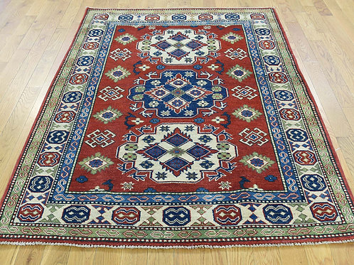 #486   Hand Knotted Kazak Area Rug