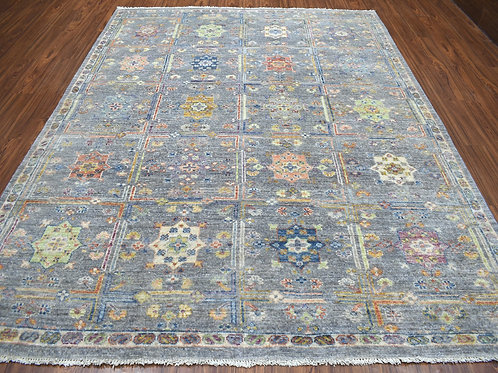 #550  Box Design Gray Oriental Rug
