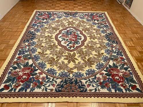 #K94  New Wool French Design Hooked Rug, Area Rug