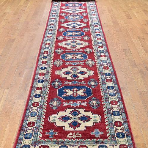 "#533  2'7' x 20'1"" X- Long Kazak Oriental Runner Rug"