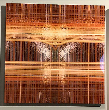 """""""ORO INTRECIATO TRES"""" 100 x 100 cm"""