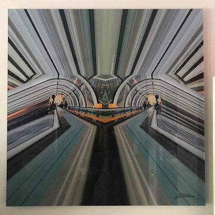 """""""LA FORCE"""" Centrepompidou, Paris 100 x 100 cm"""