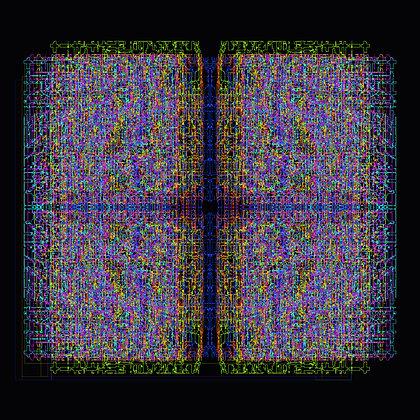 """""""RAINBOW SQUARE"""" 140 x 140 cm"""
