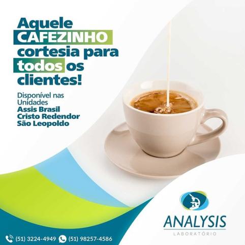 Café cortesia para todos os clientes