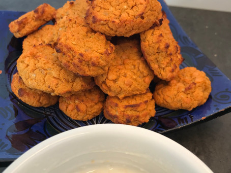 Bouchées apéritives patate douce et lentilles corail