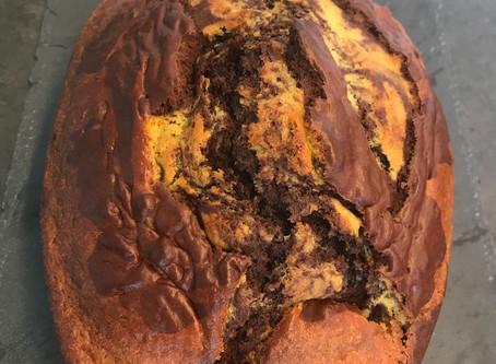 Marbré léger orange/chocolat