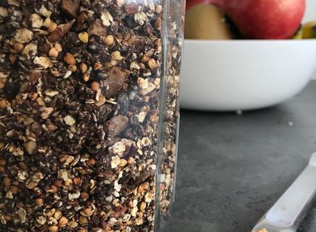 Granola sarrasin/chocolat/noix de coco