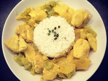 Poulet curry au céleri