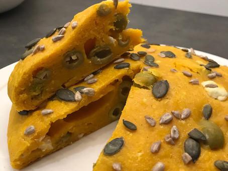 Scone au potimarron, feta et olives