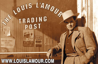 An image of Louis L'Amour standing outside of The Louis L'Amour Trading Post.