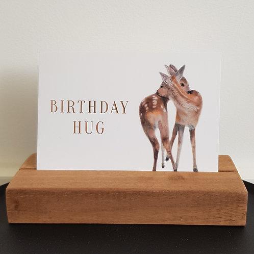 DUBBELE KAART BIRTHDAY HUG