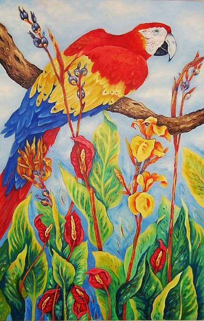 Scarlet Macaw.24x36oils on canvas.jpg