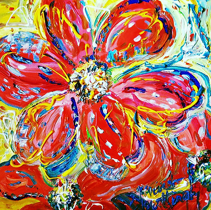 Patricia's Poppies.acrylic on canvas.20x