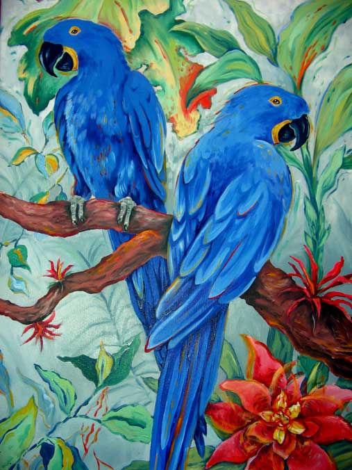 Hyacinth Macaws.24x36.oils on canvas.jpg