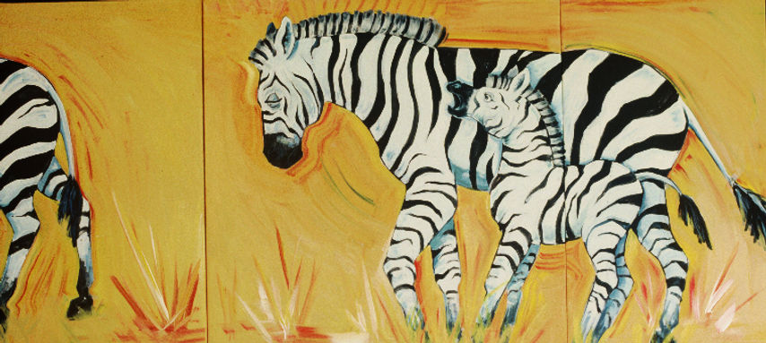 Two and a Half Zebras.bright.triptych.jp