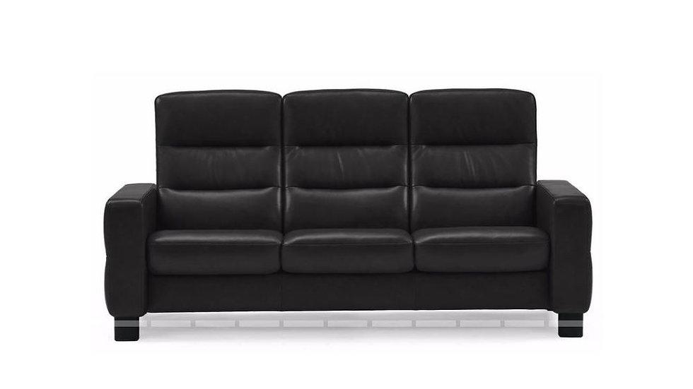 Wave Sofa High Back Recliner 3 Seat